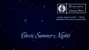 RCB Summer Concert Series - Those Summer Nights!
