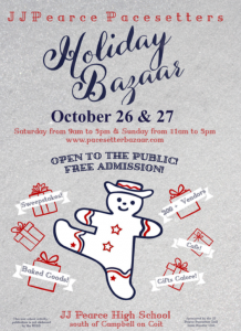 J.J. Pearce Pacesetters Annual Holiday Bazaar