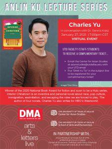 """ANLIN KU LECTURE: CHARLES YU AND HIS BOOK """"INTERIOR CHINATOWN"""""""