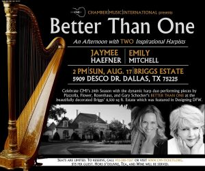 Better Than One: An Afternoon with Two Harpists