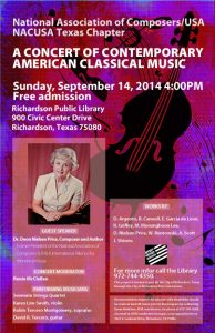 Concert of Contemporary American Classical Music