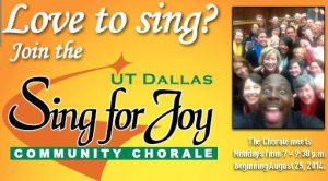 UT Dallas Community Chorale 2014-2015 Season