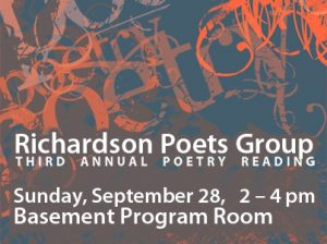 Richardson Poets Group Third Annual Poetry Reading