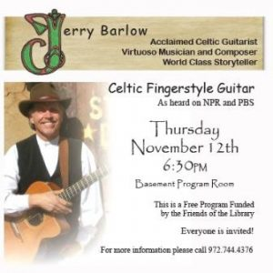 Celtic Fingerstyle Guitarist, Jerry Barlow