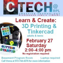 3D Printing & Tinkercad - Beginner Level