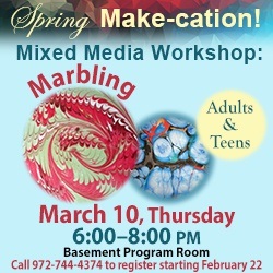 Mixed Media Workshop: Marbling