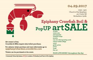 Crawfish Boil and PopUP Art Event & Sale!