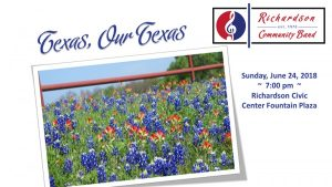 RCB Summer Concert Series:  Texas, Our Texas