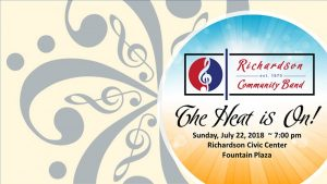 RCB Summer Concert Series:  The Heat is On!
