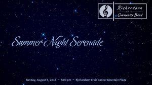 RCB Summer Concert Series:  Summer Night Serenade