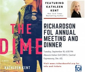 FOL Annual Meeting & Dinner with Special Guest Kathleen Kent