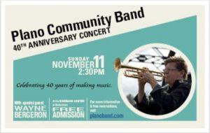 Plano Community Band  40th Anniversary Concert