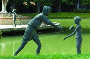 Nortel Bronze Statues